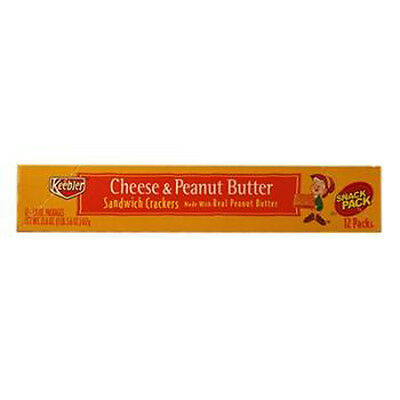 Keebler Sandwich Crackers Chese & Peanut Butter 1.8 Oz Each ( 12 In A Pack )