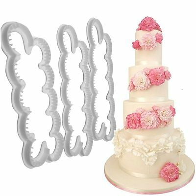 Fondant Cake Mold 3D Carnation Flowers Cookie Cutter Mould Decorating Tools
