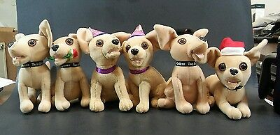 Lot of 6 vintage Taco Bell adorable chihuahua stuffed animal dog plush
