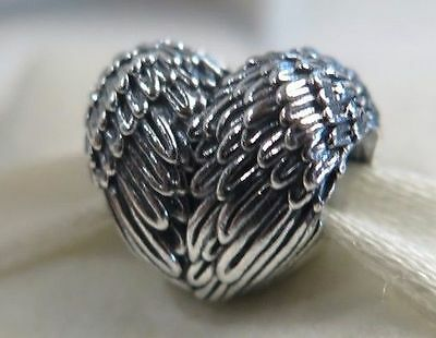 Genuine Pandora Sterling Silver Angelic Feathers Love Wings Heart Charm