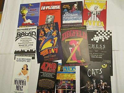 Debby Reynolds & others in 12 Handbills Musicals NYC & Out of Town Ziegfeld Aida