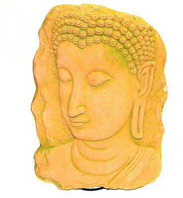 Clay Buddha Face BAS RELIEF KHMER Wall FRAGMENT ANGKOR Wat Nice Thai Gift