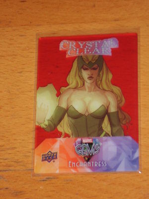 Enchantress 2016 Marvel Gems Crystal Clear Red Card 1:5 Rare