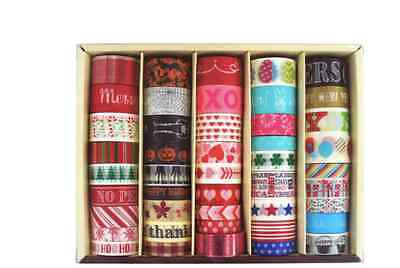 Recollections Washi Tape Box - Seasonal 45 rolls, scrapbooking planner
