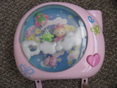 Fisher Price Perfectly Pink Dreamland Crib Toy Soother Projector Works