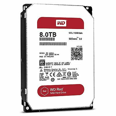 """WD Red 8TB NAS Hard Disk Drive - 5400 RPM SATA 6 Gb/s 128MB Cache 3.5"""" WD80EFZX"""