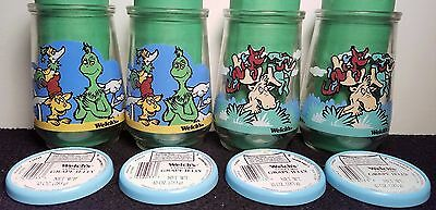 Grinch & Thidwick - 1996 - Wubbulous World of Dr. Seuss Set of 4 Welch's Glasses