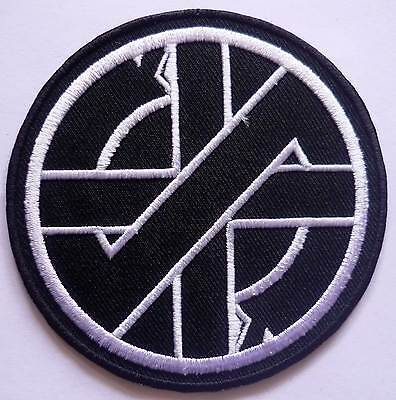 CRASS embroidred patch logo Conflict Omega Tribe Flux Of Pink Indian Amebix