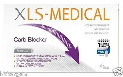 XLS-Medical Carb Blocker 180 Tablets 1 Month Supply Slimming Pills Diet Weight