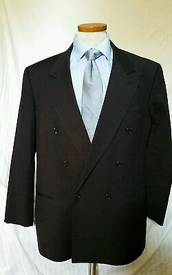Mani black sportcoat sz 44R Double Breasted jacket  made in Italy! wool