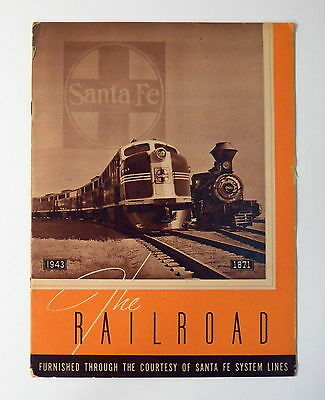 Booklet THE RAILROAD 1871 - 1943 from Santa Fe system lines