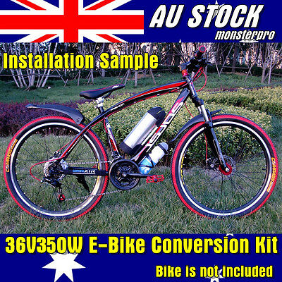 36V 350W Ebike Electric Bicycle Conversion Kit Rear Wheel w' Battery 2017 NEW