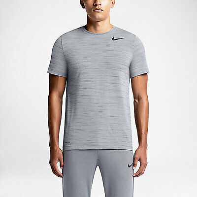 New Nike Dri-FIT Touch Heathered Short Sleeve Men's Training Shirt/sport top gym