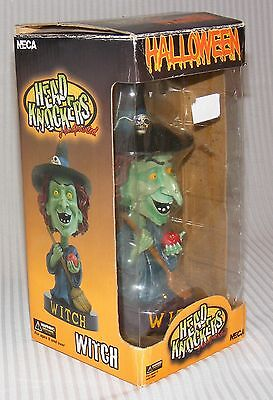 NEW in Box NECA Halloween WITCH HEAD KNOCKERS Bobblehead Smiling HANDPAINTED