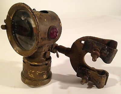 Antique Neverout Insulated Kerosene Bicycle Safety Lamp Rose Mfg. CO PA Carriage