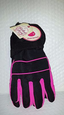 Fg Solid Snow Glove Waterproof Black Soot Size S-M Children Size New With Tags