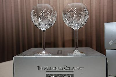 """Waterford Crystal - Millennium Collection - """"Health"""" Goblets (Signed)"""