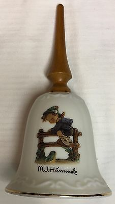 """M.J. Hummel Bell Christmas """"Retreat to Safety"""" Wooden Handle"""