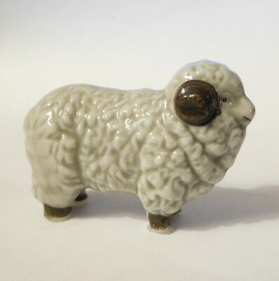 Vintage MINIATURE RAM SHEEP with horns - Porcelain - Nicely Done
