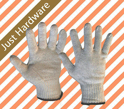 Safety Work Cotton Gloves Knitted Labor Garden Hand Protect Glove large 250mm