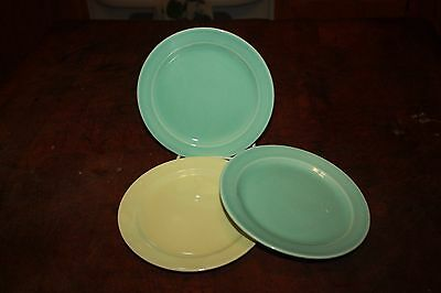 VINTAGE TAYLOR SMITH & TAYLOR LURAY PASTEL BREAD & BUTTER PLATES Lot of 3