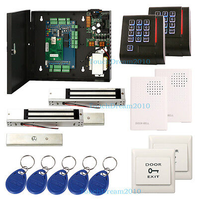 2 Door Access Control Lock Systems With 280kg Magnetic Lockdoorbell