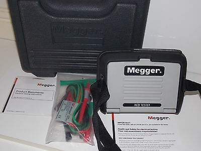 Megger RCDT320   BOXED RCD TESTER  (INCLUDES  A NEW SET OF 3 WIRE TEST LEADS)
