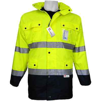 Hi Visibility Parka, Fleece Lined, Waterproof, Class 3, Size:2XL, GLO-P1-2XL