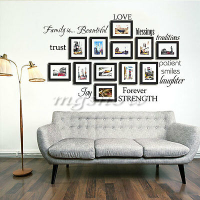 Wall Sticker Decal For Decor Home Family Picture Photo Frame Quote Beautiful Art