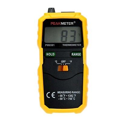 PM6501 K Type Digital LCD Thermometer Temperature Meter Tester Probe F9N5