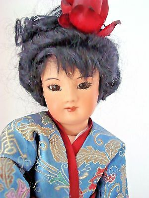 "Beautiful Antique Reproduction Asian Fashion Lady 12"" by CANDY ANDERSON Kimono"