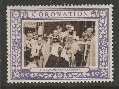 1937 Uk King George Vi Coronation Stamp – The Coronation Ceremony - Mint