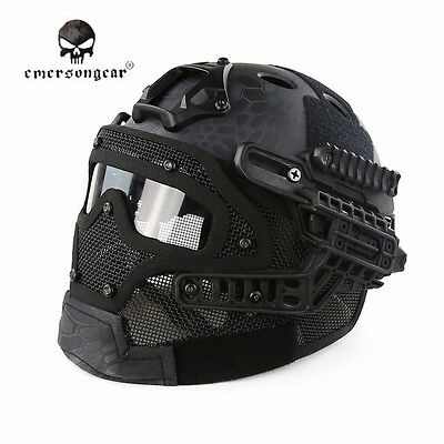 Tactical Airsoft Paintball Helmet Full Face