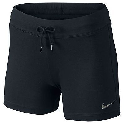 New Nike Women's Shorts Solid Jersey/black/soft cotton/gym/holidays/sport shorts
