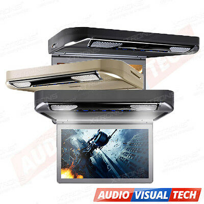 """XTRONS Car Overhead Ceiling Roof Mount Monitor DVD Player 13"""" Wide Screen HDMI"""