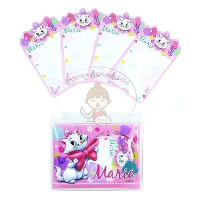 Super Cute Disney Marie 100 Sheets Notepad In Plastic Resealable Bag