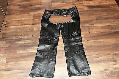Harley Davidson Women's Classica Leather Chaps Size Medium Pre-owned  98026-12VW