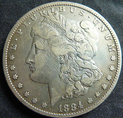 1884 United States USA Morgan Dollar 90% Silver Coin