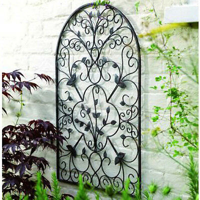 Spanish Arch Garden Wall Art Antique Rustic Out Door Decor Scroll Home Steel New