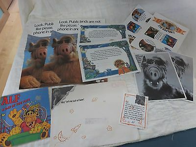 Alf Poster Certificate, Book day at fair, stickers, letter note