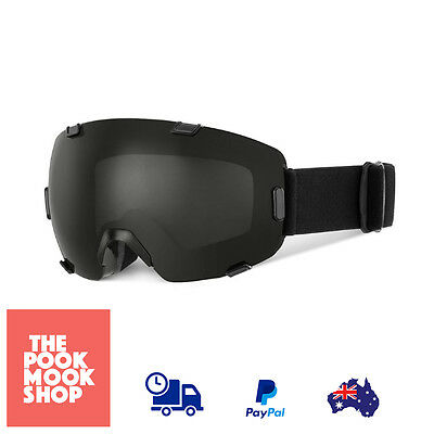 Black Snow Goggles Sk, Snowboard Anti-Fog Lens Dual, Winter, Protection Foam New