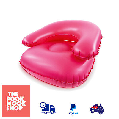 Pink Kids Inflatable Couch Chair Air Plastic Sofa Children, Portable Playroom