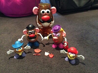 Mr & Mrs Potato head and 2 kids with large Mr potato head storage pick up vic