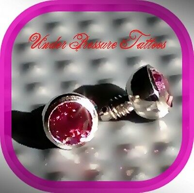 Micro Dermal Anchor Inset 3mm 3 mm Crystal Shocking Pink, Pink NEW