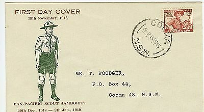 1948 Australia Scout Issue on rarely available 'Woodger' printed address FDC