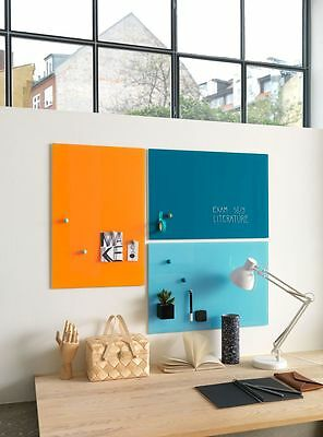 40cm x 60cm Magnetic Coloured Glass Board 12 colours available!