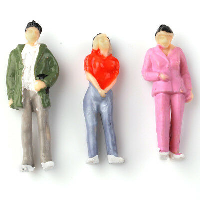 25pcs 1:43 Scale Gauge Model Railway Mixed Poses Painted People/Figures Layout