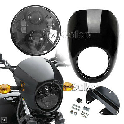 """5 3/4"""" Daymaker Headlight + Fairing For Harley Dyna Super Wide Glide Low Rider"""
