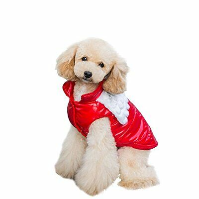 NEW Designer Dog Winter Coat Pet Clothes Apparel Jacket Puppy Cat Warm - Large