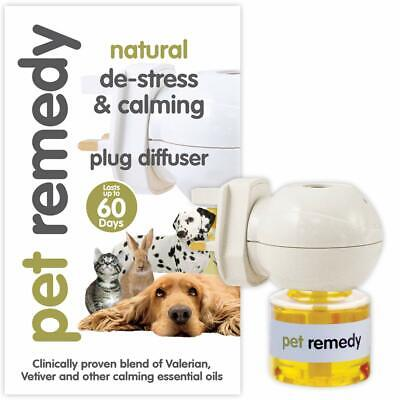 Pet Remedy Natural De-Stress and Calming Plug-In Diffuser and Bottle 40 ml